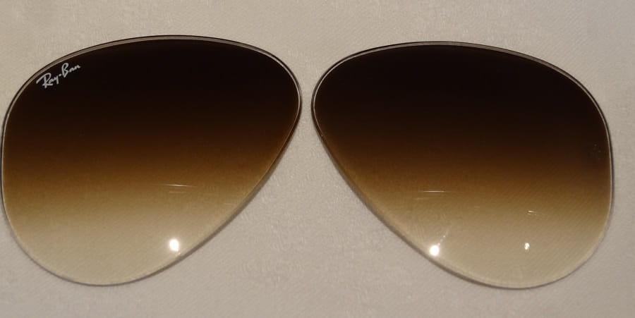 fa4c09f0234ee4 Szkła / Soczewki mineralne przeciwsłoneczne do okularów Ray-Ban RB3025  Aviator 55mm
